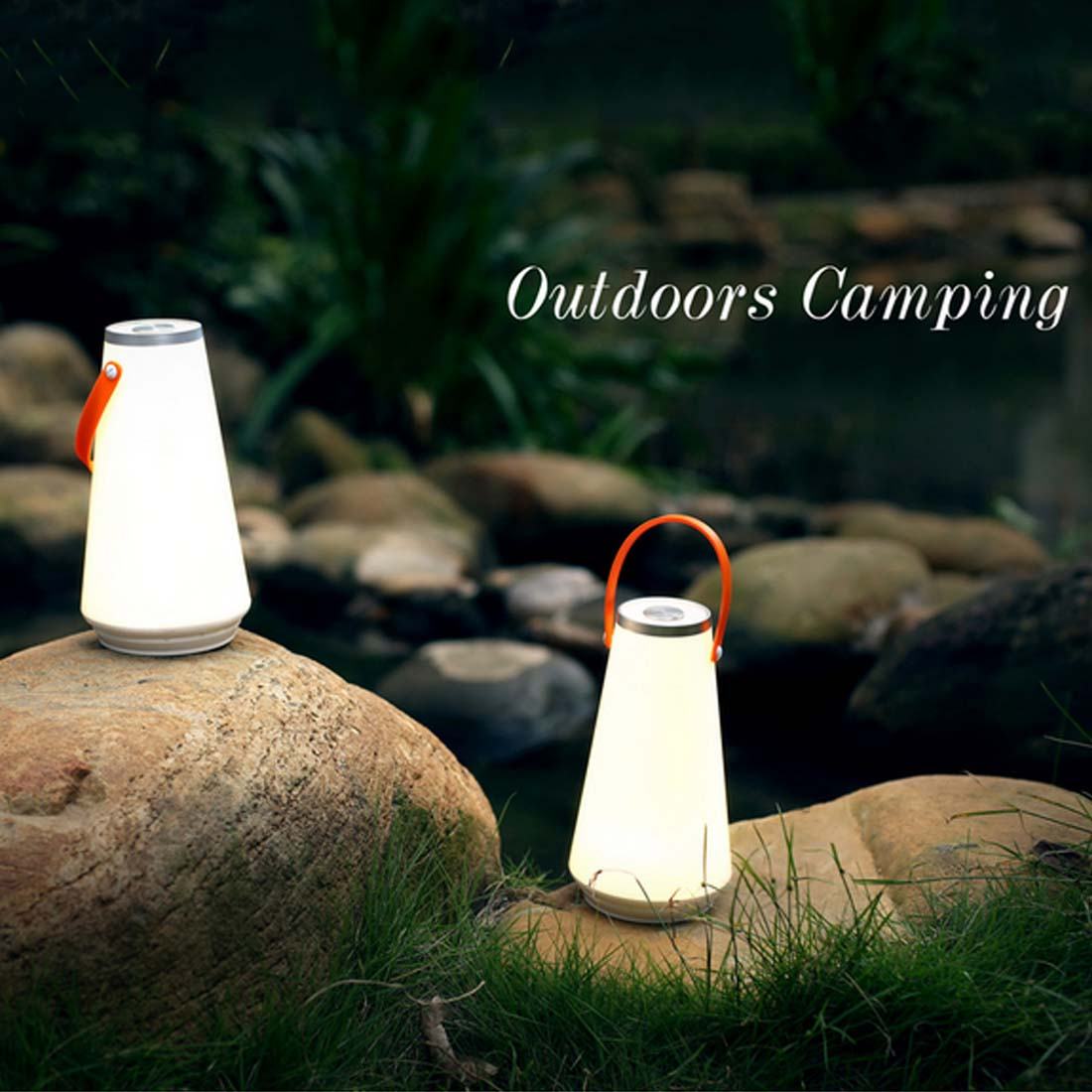 Portable Camping Lantern Wireless Led Night Light Rechargeable Table Lamp Touch Sensor Outdoor USB Charger Book Light Bedroom