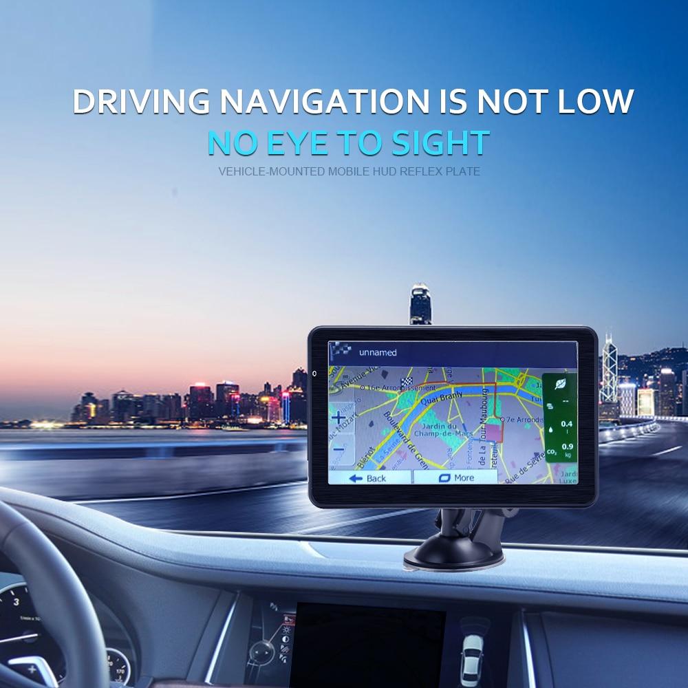Podofo 7 inch HD Car GPS Navigation Map Free Upgrade Navitel