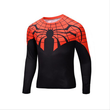 Compression Shirt Batman VS Superman 3D Printed T-shirts Men Raglan Long Sleeve Cosplay Costume Clothes Male Tops For Halloween