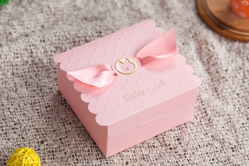 Pink Baby Shower Party Favor Boxes Cheap Favor Boxes Wholesale With