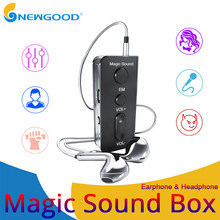 Magic Sound Stereo voice changer Wired Earphones with Microphone 3.5mm Jack for Mobile Phone Live Chating Sound card(China)