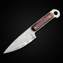 New Good Quality Fixed Blade Knife Damascus Stainless Steel 58HRC High Hardness  Camping Hunting Knife