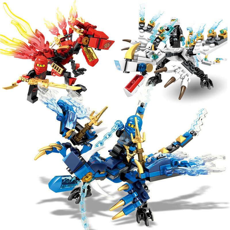 4 вида Logoed драконы фантом ниндзя человек совместим с Legoed строительные блоки Дети DIY обучающие рождественские игрушки подарок