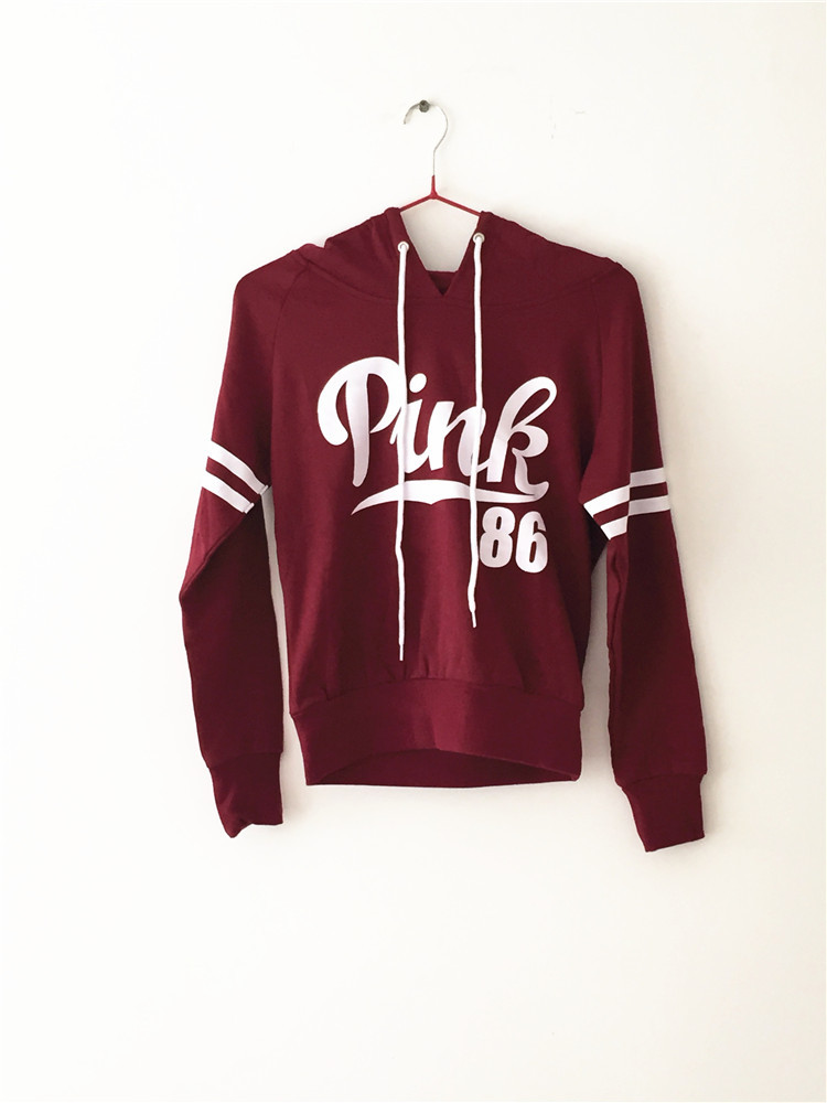Online Shop 2015 New Women Hoodies Spring Autumn Love Pink 100 ...