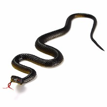 Rubber Black Snake Toys Halloween Prank Prop Novelty Gift For Firend Decor trick Simulation Reptile Model Replica kids