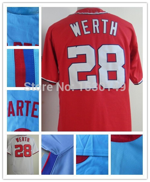 on sale 0668c 25562 #28 Jayson Werth Jersey Cheap Authentic Sport Jersey Mens Washington  Baseball Jerseys Embroidery Stitched logos Cool Base-in Baseball Jerseys  from ...