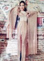 Женская Новая Мода Sexy Ночной Клуб Бар Певица DJ Костюмы Блестками Тонкий Платье Танец Ds Этап Одежда Производительности Одежда Набор
