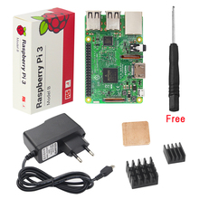 UK Raspberry Pi kit + 2.5A Power Supply Adapter + Aluminum Copper Heat Sink + Free Screwdriver for RPI3 Pi3