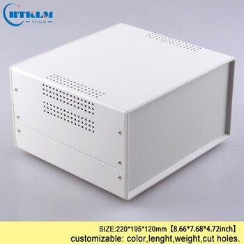 Eisen gehäuse für elektronische projekt outlet fall junction control box industrie projekt instrument box 220*195*120mm desktop-BOX