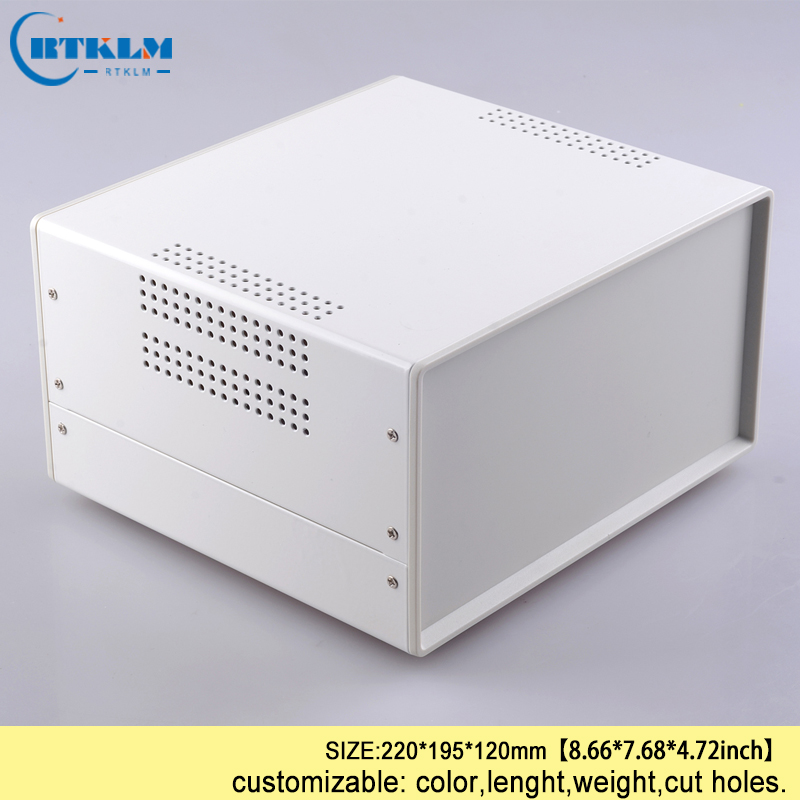 Enceinte de fer pour électronique projet sortie cas control box junction l'industrie projet instrument boîte 220*195*120mm BOÎTE de bureau