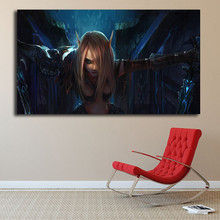 World of Warcrafts Night Elf Orc Death Knight HD Canvas Painting Print Bedroom Home Decor Modern Wall Art Oil Poster