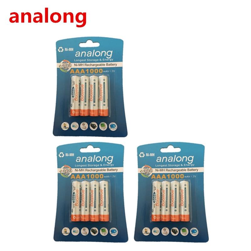 Analong 1,2 v AAA 3A NIMH 1000mah AAA Batterie Wiederaufladbare aaa Batteria ni-mh batterien batterie wiederaufladbare