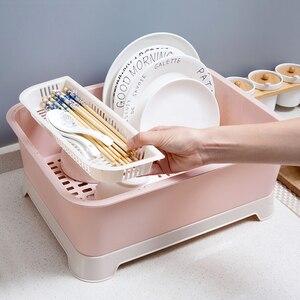 Image 3 - Contenedor de vajilla a prueba de polvo, caja de almacenamiento para el hogar, vajilla de cocina, cubiertos, estante de almacenamiento de estilo de suelo, cuenco organizador