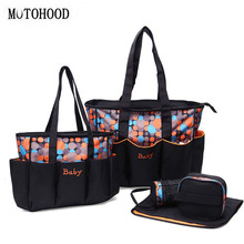 16*32*48cm 5pcs Large Baby Diaper Bag Set For Mom Mother Women Tote Bag Maternity Changing Nappy Bags Organizer Baby Care