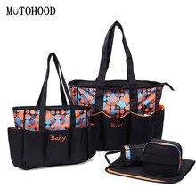 цены на 16*32*48cm 5pcs Large Baby Diaper Bag Set For Mom Mother Women Tote Bag Maternity Changing Nappy Bags Organizer Baby Care  в интернет-магазинах