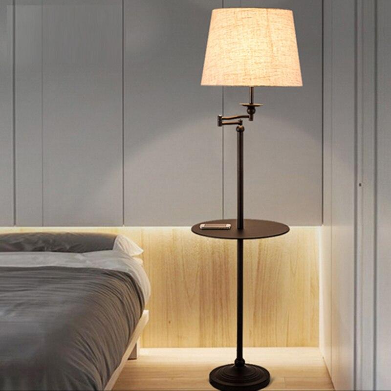 New Black Wrought Iron Rocker Floor Lamp Led Energy Saving