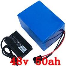 48 v батарея 48 v 50ah литий-ионная батарея 48 v 3000 w электрическая велосипедная батарея использовать телефон panasonic с 70A BMS + 54,6 V 5A зарядное устройство