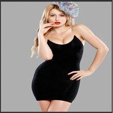 Пикантный утягивающий контроль скольжения платье Корректирующее женское корректирующее белье спагетти ремень вечерние Клубное платье в обтяжку