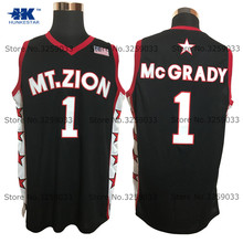 052418a1 Mens Tracy McGrady Jersey #1 Mount Zion Christian HS Throwback Basketball  Jersey MAN Basket Uniforms Stitched Trikots Shirts