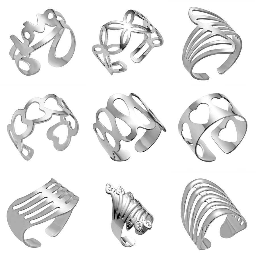חם קאף טבעת פאנק זהב צבע Knuckle טבעות לנשים גברים אצבע טבעת סדירה טבעת תכשיטים