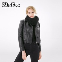Winfox 2018 New Fashion Winter Black Fleece Infinity Scarf Ring Neck Warmer For Womens Mens