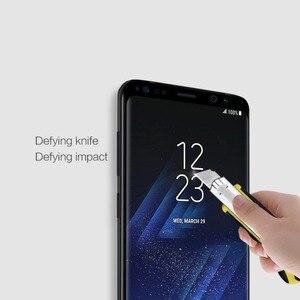 Image 5 - NILLKIN 9H Härte 3D Gebogene Rand Vollen Abdeckung Gehärtetem Glas für Samsung Galaxy S9 Plus S9 Screen Protector film 0,33mm 6,2