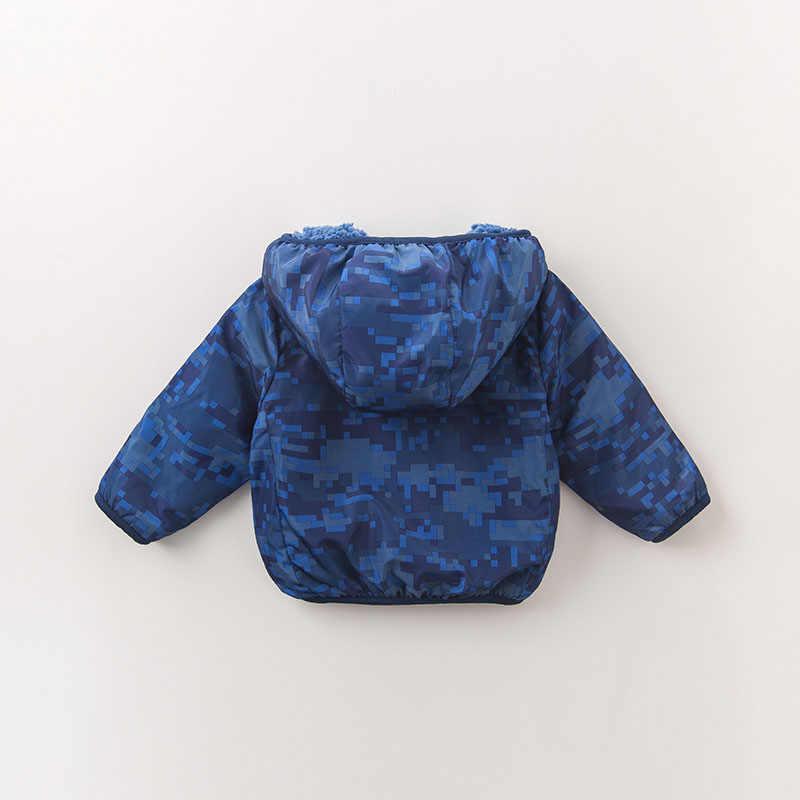 DB2858-B dave bella/осеннее пальто для маленьких мальчиков Модная одежда пальто с капюшоном и принтом для маленьких мальчиков высокое качество