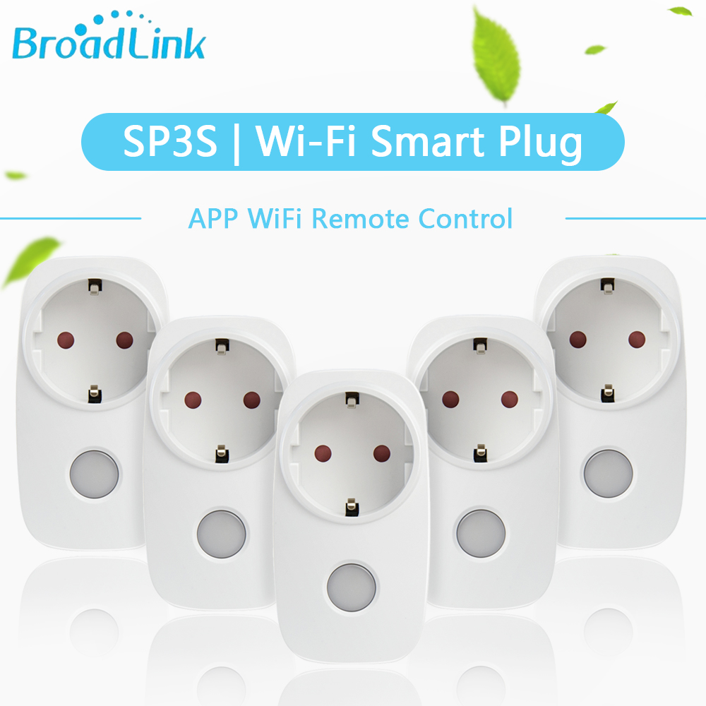 Broadlink 2/3/5Pcs Original SP3S WiFi Smart Socket EU Plug Outlet work for ALexa Google Home Smart Home APP Remote Control