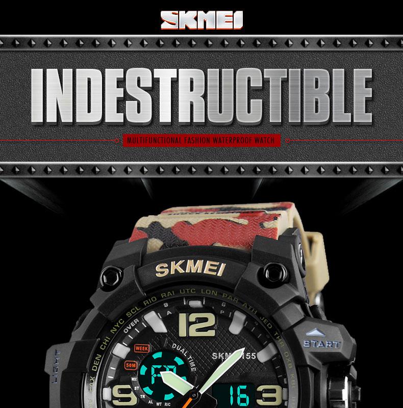 5c91a998c4ff Azul del reloj SKMEI al aire libre militar reloj deporte Digital ...