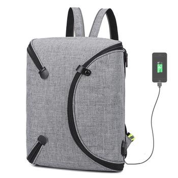 Многофункциональный ноутбук сумка для Macbook Pro retina 15,4 Внешний usb интерфейс зарядки рюкзак для ноутбука Dell acer ASUS 15,6