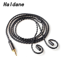 Free Shipping Haldane 3.5mm DIY Upgrade Replacement Cable For  IE8 IE80 IE800 ie8i Silver Plated Earphone Cable free shipping haldane 1 2m earphone cable hifi headset line upgrade cable for im50 im70 im01 im02 im03 im04
