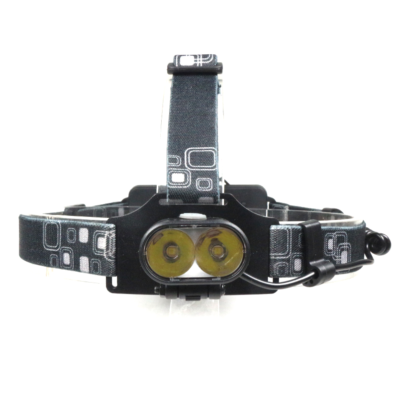 Led Spotlight Headlamp: High Power 2xT6 LED Focus Headlight Waterproof Bike Head