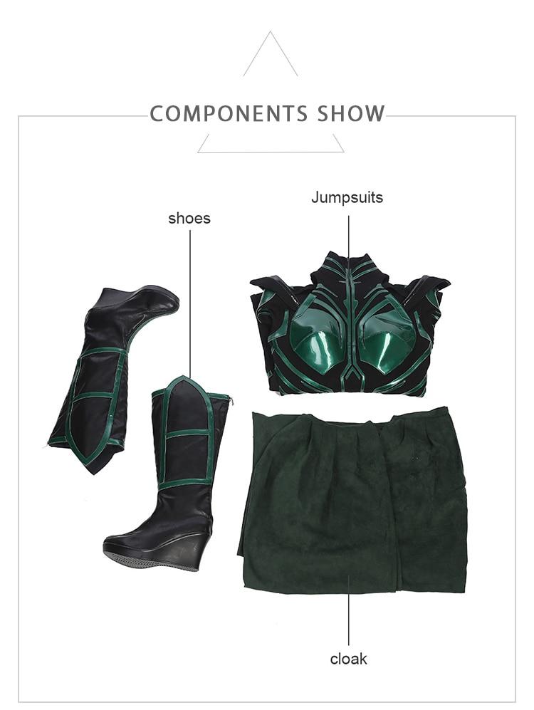 HZYM Thor Ragnarok Cosplay Hela Leather Boots Shoes Custom Made Halloween