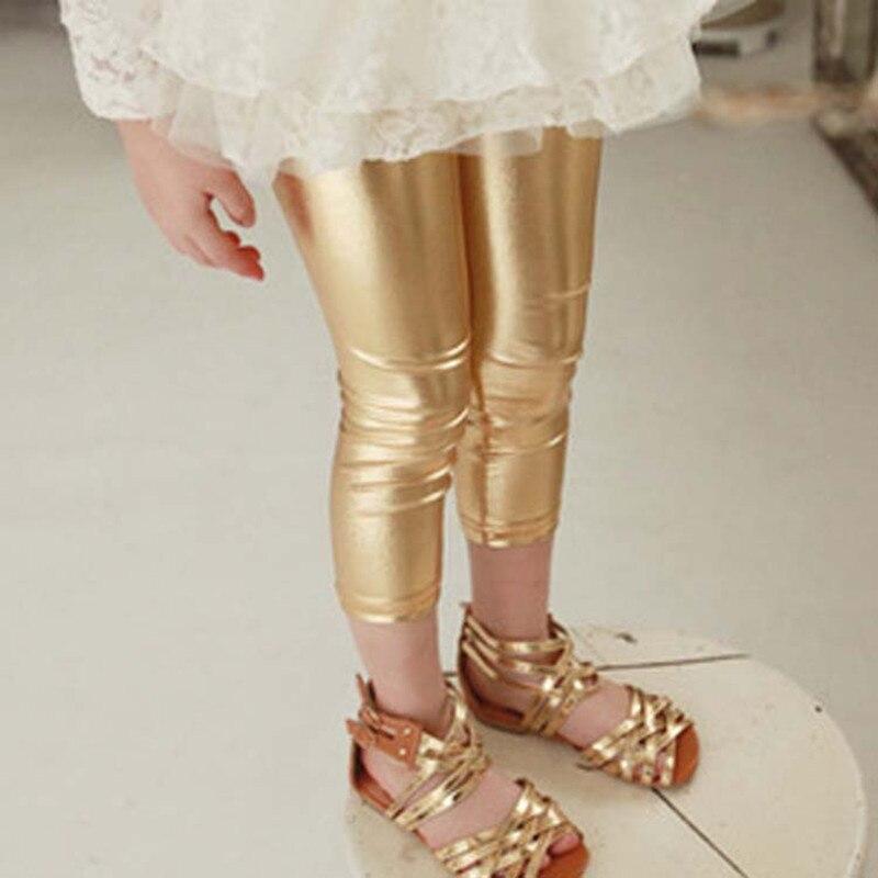 Heiße Goldmädchen-Gamaschen-Großhandelskinder, welche die - Kinderkleidung - Foto 3