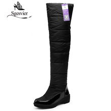 SGESVIER Women Shoes Over the Knee Boots Simple Style Snow Boots For Women New Winter Warm Plush Boots 2017 Size 34-42 OX119