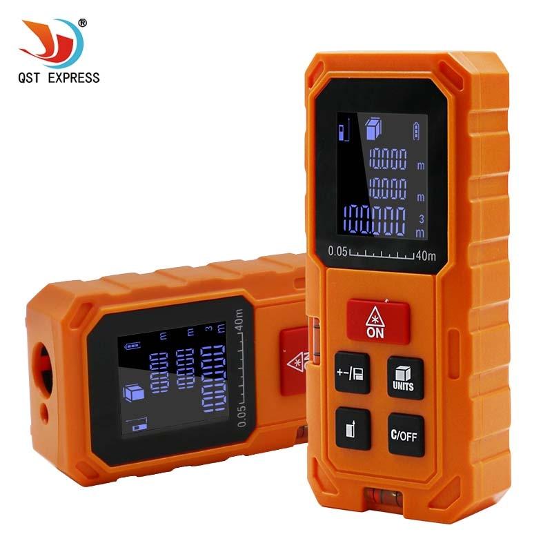 Laser Rangefinder Roulette 40M 60M 80M 100M Laser Distance Meter Laser Distance Meter Ruler Measuring Tape Orange