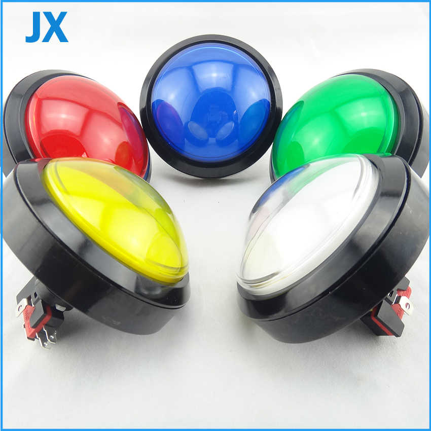 2PCS 100mm Push Button Arcade Button Led Micro Switch Momentary Illuminated 12v/5v Power Button Switch free shipping