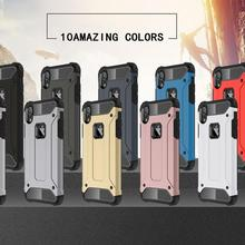 LISM 10 Colors Simple Armor Phone Case Cover Anti-knock Full Protector For iPhone 6 6S 7 8 Plus X XR XS Max