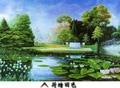 New Arrival Freehand Green Color Landscape Jigsaw Paper puzzle 1000 pieces plane flat puzzle 1000 pieces on sale