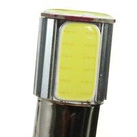 dc 12v 2x 1156 BA15S COB LED 5W אוטומטי אותות הפעל תאורה אחורית DC לבן 12V (3)