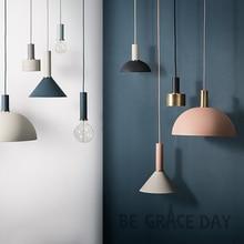Nordic простой бар подвесной светильник цветной ресторан, спальня, прикроватные светильники, современное искусство и креативное освещение
