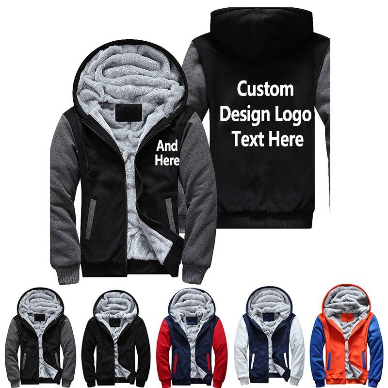 Dropshipping ee.uu. Plus UE tamaño de América del diseño de los hombres patrón de impresión espesar Fleece Zipper Hoodies sudadera chaqueta de la capa