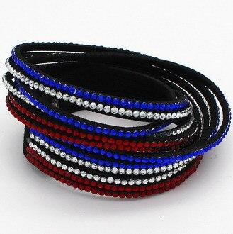 Snelle gratis verzending multilayer lederen armband crystal wrap - Mode-sieraden - Foto 4
