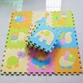 9pcs/set Animal Crawling Play Mat For Children, Baby Climb Puzzle Eva Foam Carpet Kids Rug Game Toys Gift Activity Gym Floor 449