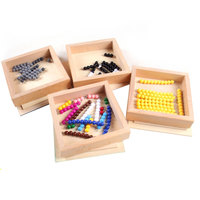 Montessori Wooden Toys Montessori Math Materials Counting Beads Box Educational Early Learning Toys For Children Me1764H