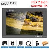 Lilliput FS7 7 дюймов Full HD 1920x1200 4 К HDMI в/out 3G SDI in/out на камера видео поле монитор для sony PXW FS7/EVA1/Gimbal