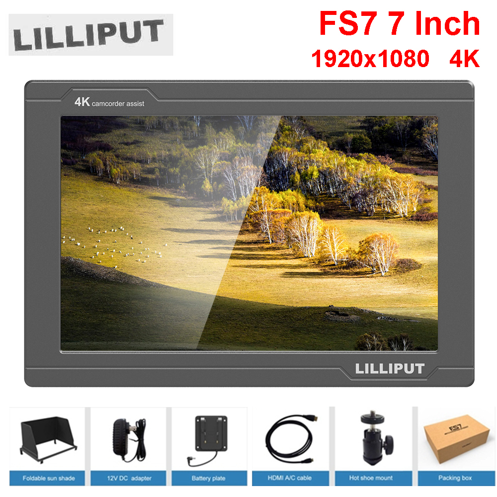 все цены на Lilliput FS7 7Inch Full HD 1920x1200 4K HDMI in/out 3G-SDI in/out On Camera Video Field Monitor for Sony PXW-FS7 / EVA1 / Gimbal