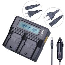 Tectra LCD Rápido Carregador Duplo para Sony NP-F570 NP-F550 NP-F770 NP-F750 NP-F960 NP-F970 NP-FM500H QM71D QM91D FM50 FM70