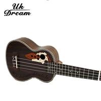 21 Inch 15 Frets Rosewood Soprano Ukulele Guitar Uke Sapele Rosewood 4 Strings Hawaiian Guitar Musical