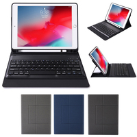 American Bluetooth Tablet Keyboard With Portable Pen Slot Kickstand Protector for iPad Air 3 Pro Change To Laptop In Seconds